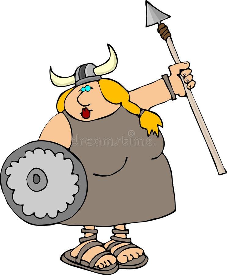 Mujer de Vikingo ilustración del vector