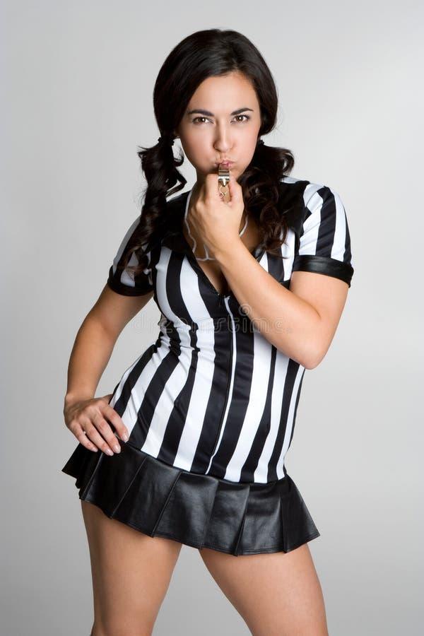 Mujer del árbitro imagen de archivo libre de regalías
