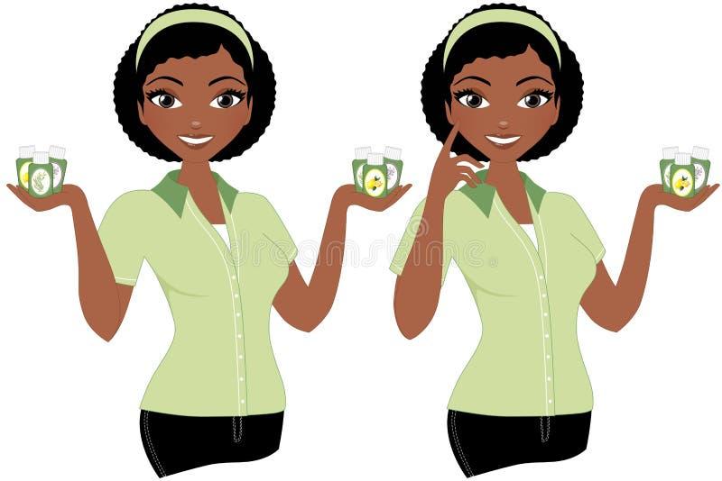 Mujer del aceite esencial ilustración del vector