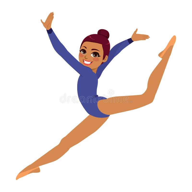Mujer del acróbata de la gimnasia ilustración del vector