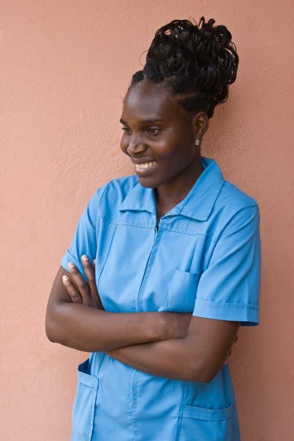 Mujer del africano del retrato foto de archivo