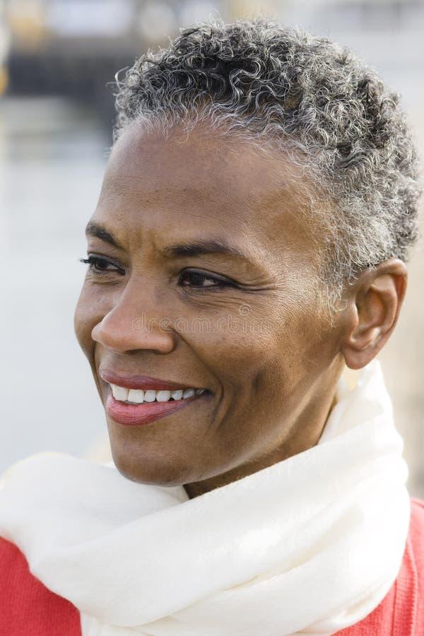 Mujer del afroamericano foto de archivo