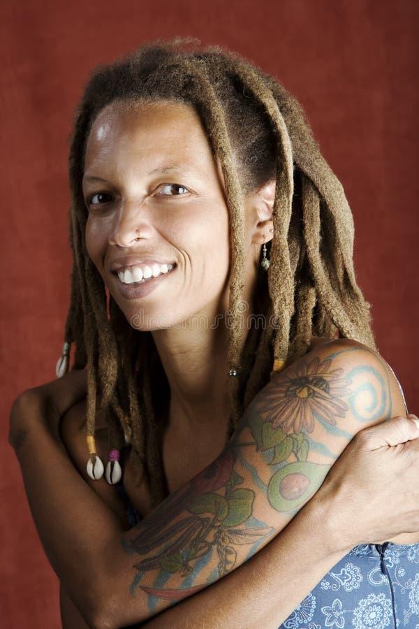 Mujer del afroamericano fotografía de archivo