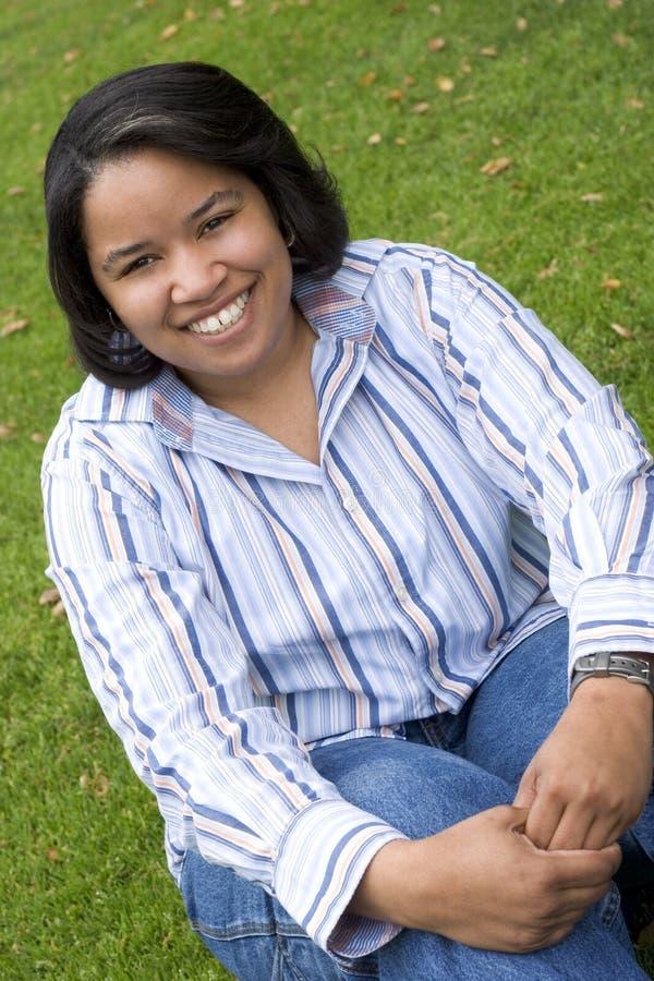 Mujer del afroamericano imagen de archivo