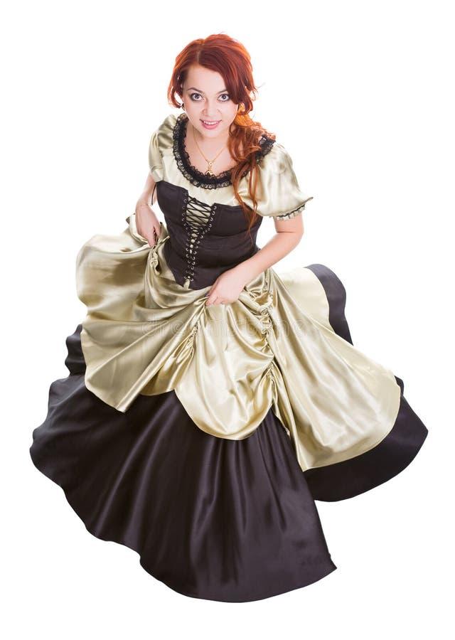 Mujer del baile en alineada de bola imagen de archivo libre de regalías