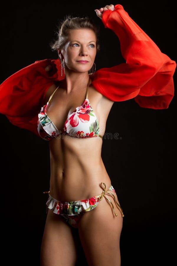 Mujer del bikiní fotografía de archivo