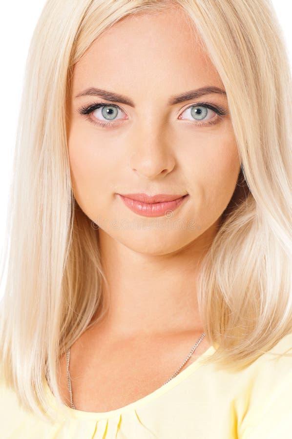 Mujer del blonde del retrato imagen de archivo
