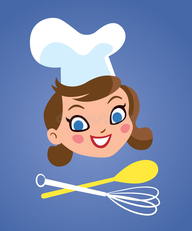 Mujer del cocinero ilustración del vector