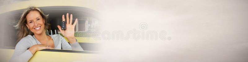 Mujer del conductor imagen de archivo
