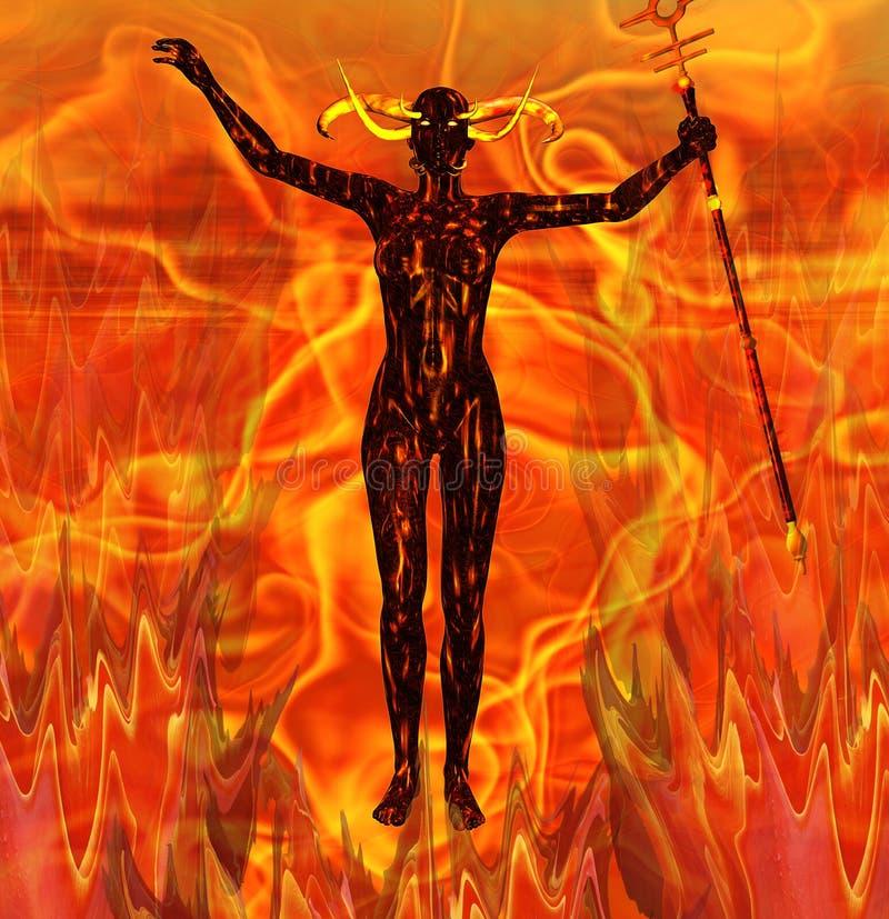 Mujer del diablo ilustración del vector