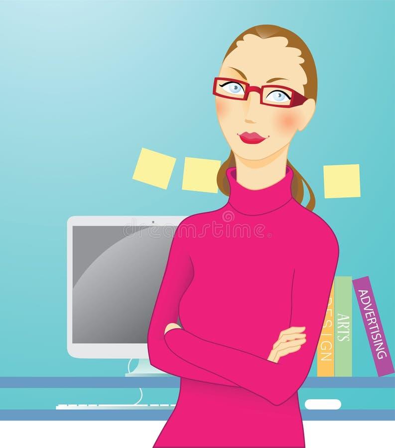 Mujer del diseñador ilustración del vector