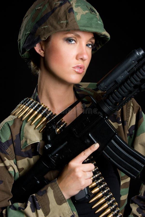 Mujer del ejército imágenes de archivo libres de regalías