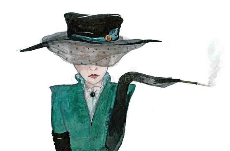 Mujer del encanto ilustración del vector