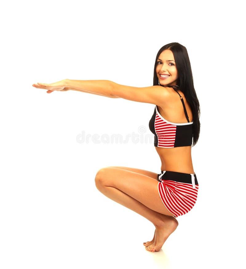Download Mujer del entrenamiento foto de archivo. Imagen de funcionamiento - 1278976