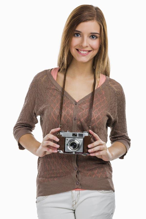 Mujer del fotógrafo fotografía de archivo libre de regalías