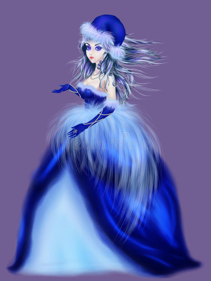 Mujer del invierno stock de ilustración
