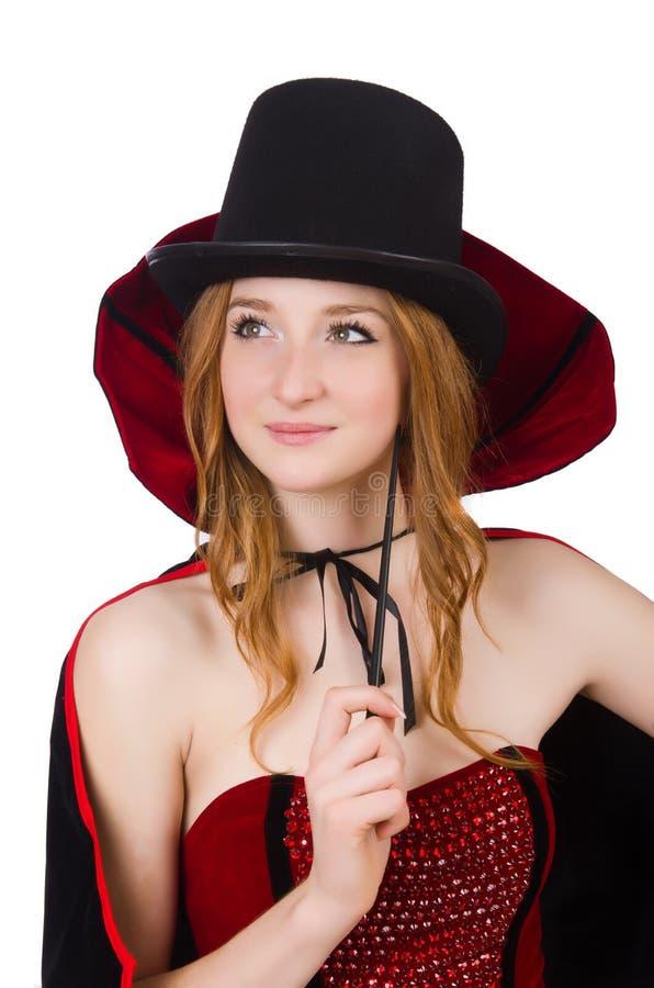Mujer del mago fotos de archivo