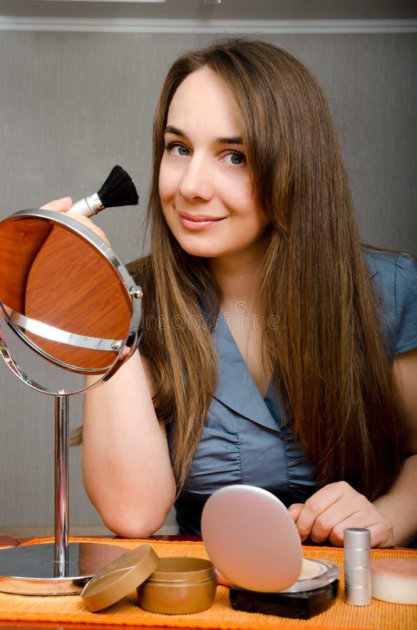 Mujer del maquillaje fotografía de archivo libre de regalías