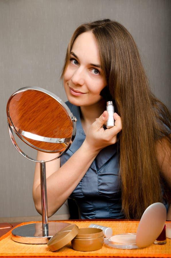 Mujer del maquillaje fotografía de archivo