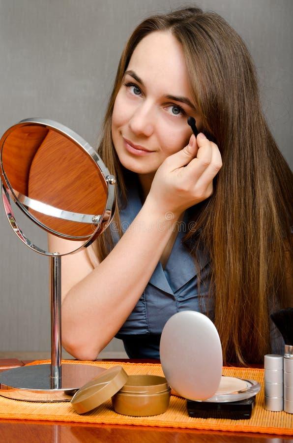 Mujer del maquillaje imágenes de archivo libres de regalías