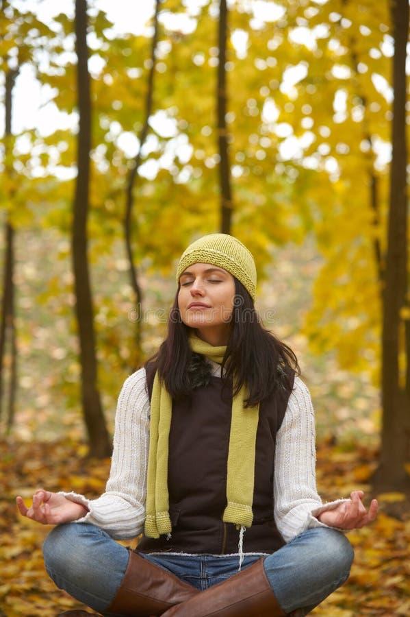 Mujer del otoño imagen de archivo