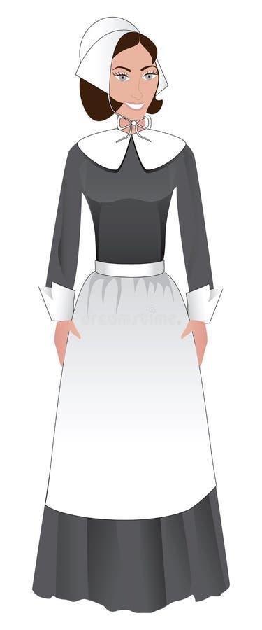 Mujer del peregrino stock de ilustración