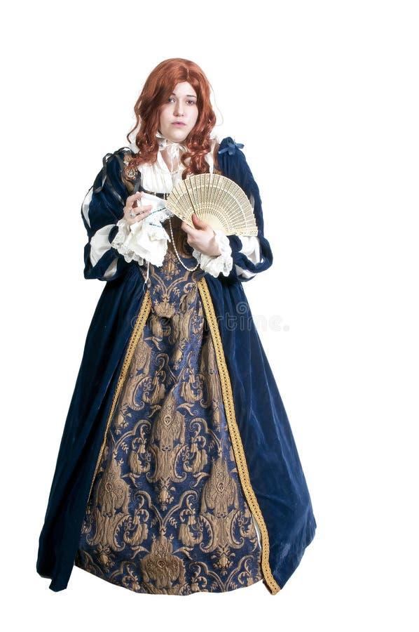 Mujer del renacimiento foto de archivo