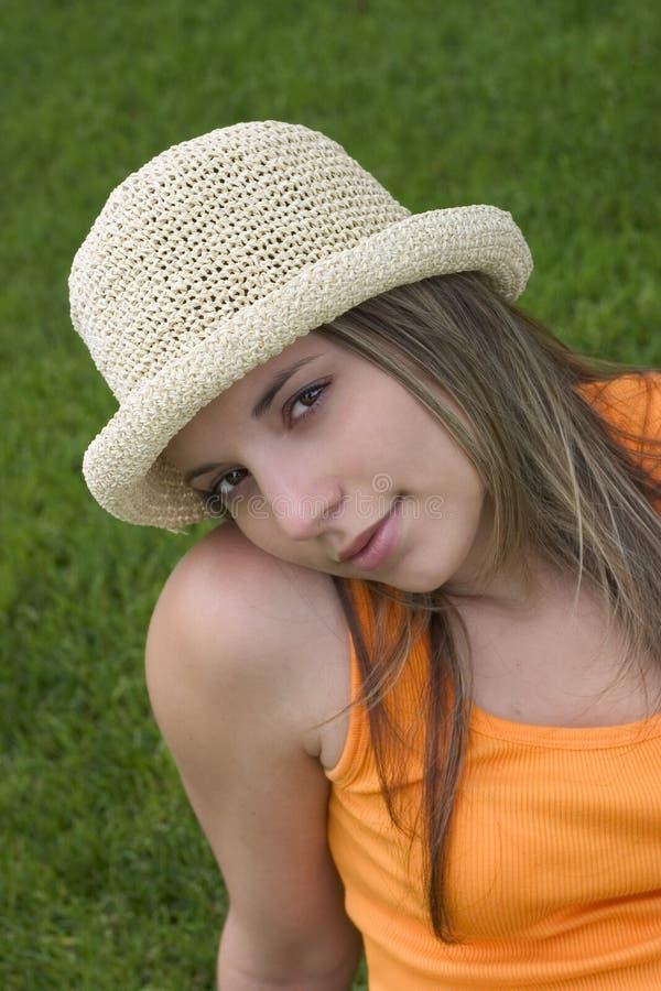 Mujer del sombrero imagen de archivo