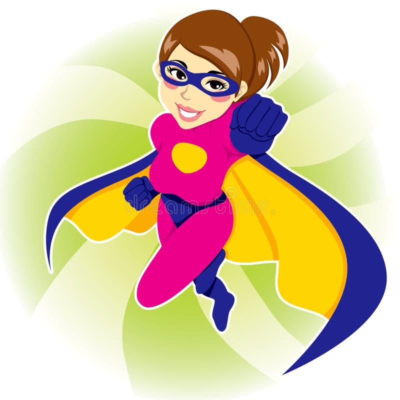 Mujer del super héroe ilustración del vector