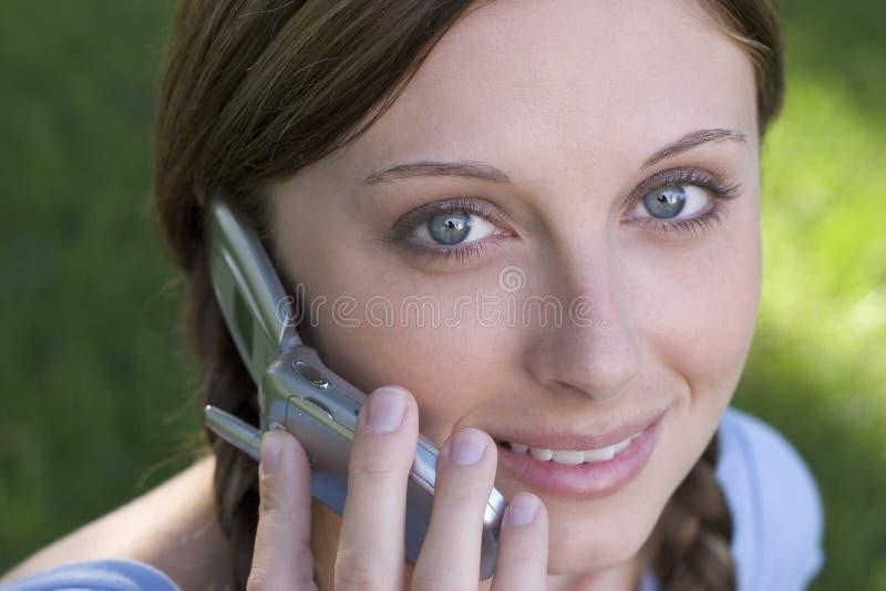 Mujer del teléfono fotografía de archivo