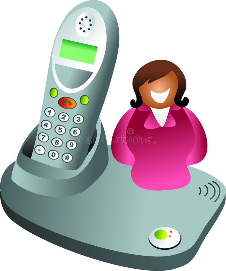 Mujer del teléfono stock de ilustración