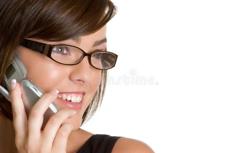 Mujer del teléfono celular imágenes de archivo libres de regalías