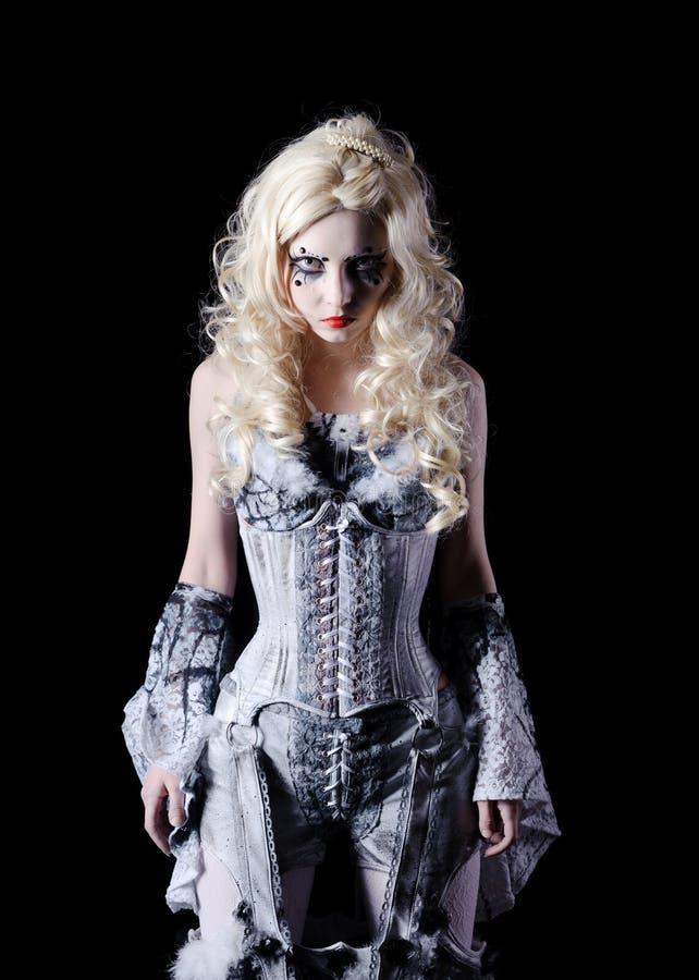 mujer del vampiro con maquillaje de la etapa foto de archivo libre de regalas