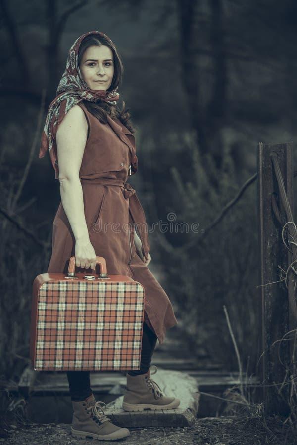 Mujer del viaje foto de archivo libre de regalías