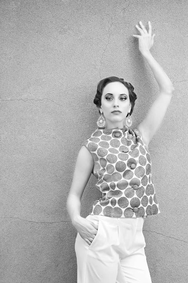 Mujer del vintage imágenes de archivo libres de regalías