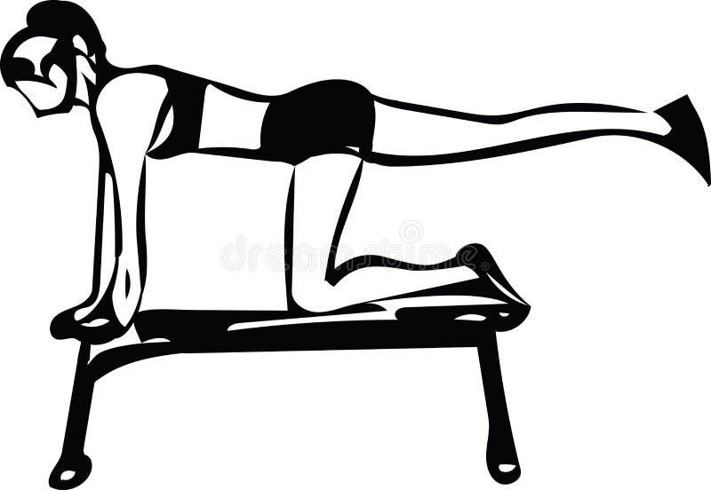 Mujer deportiva hermosa del ajuste stock de ilustración