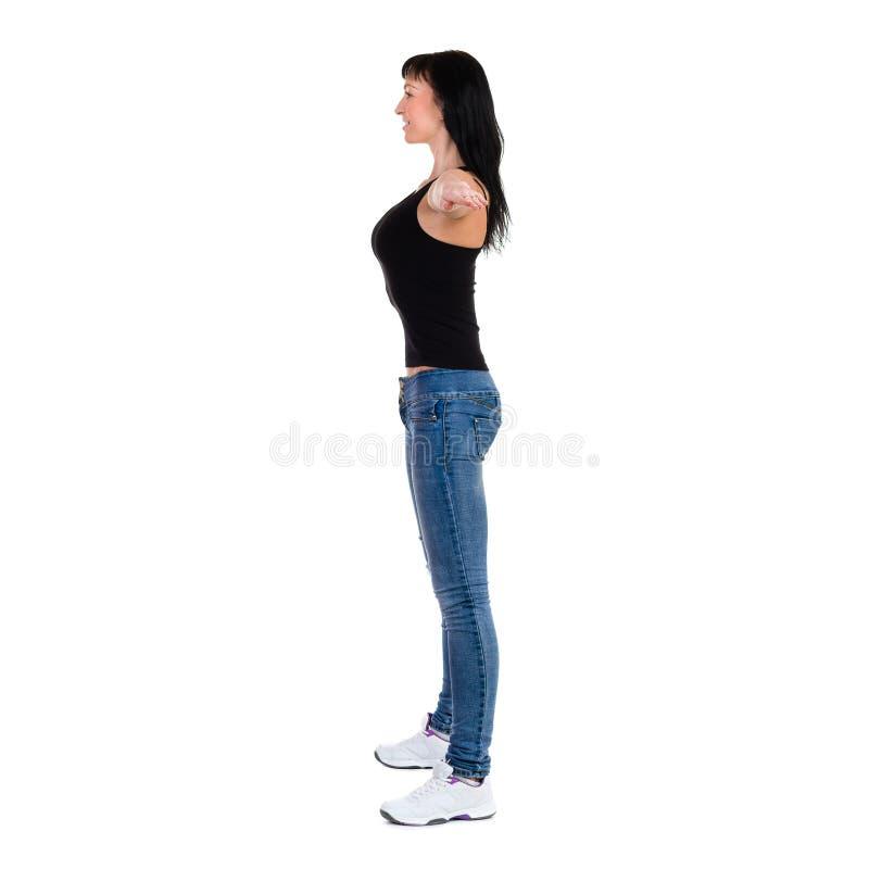 Mujer deportiva hermosa que hace ejercicio fotografía de archivo