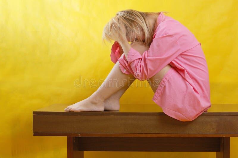 Mujer deprimida foto de archivo