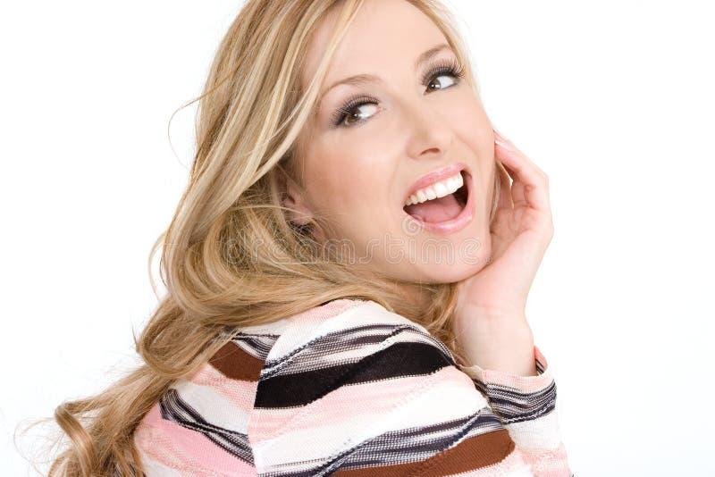 Mujer despreocupada feliz imagen de archivo