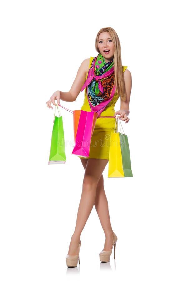 Download Mujer Después De Hacer Compras Aislado Foto de archivo - Imagen de lifestyle, mercado: 41915850