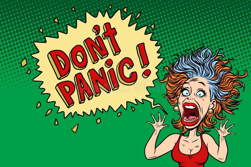 Mujer divertida del pánico libre illustration