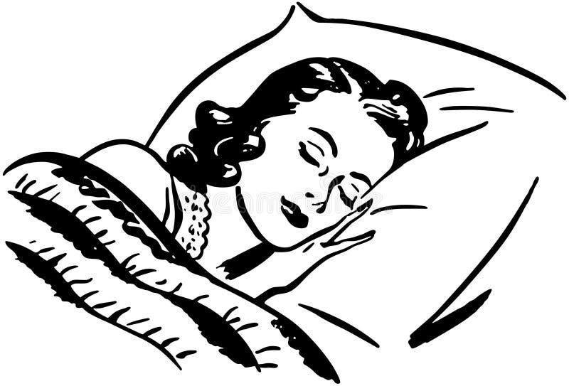 Mujer durmiente stock de ilustración
