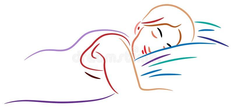 Mujer durmiente libre illustration