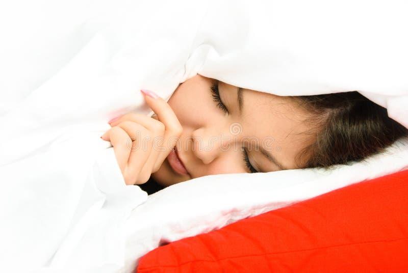 Mujer durmiente hermosa fotos de archivo libres de regalías