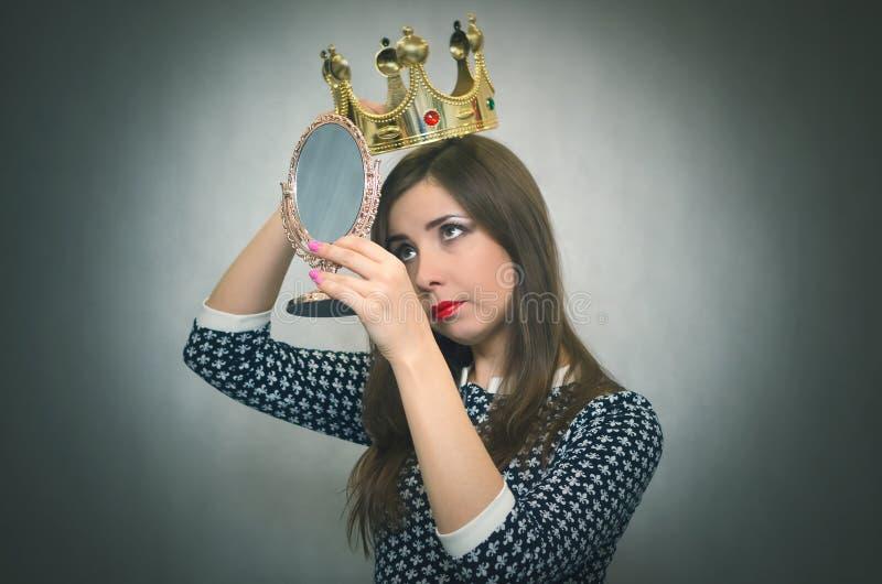 Mujer egoísta Persona egoísta imágenes de archivo libres de regalías