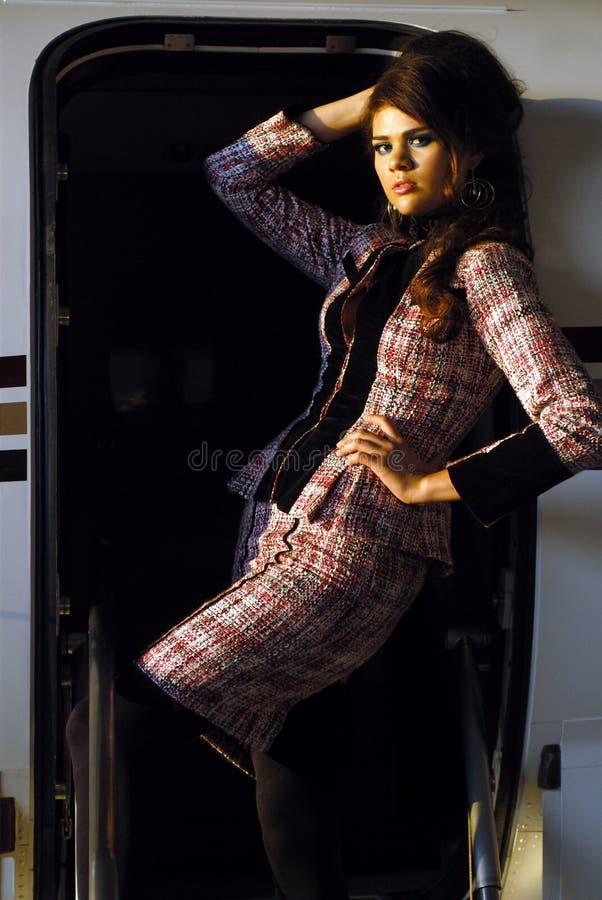 Mujer el hispanico de la manera foto de archivo