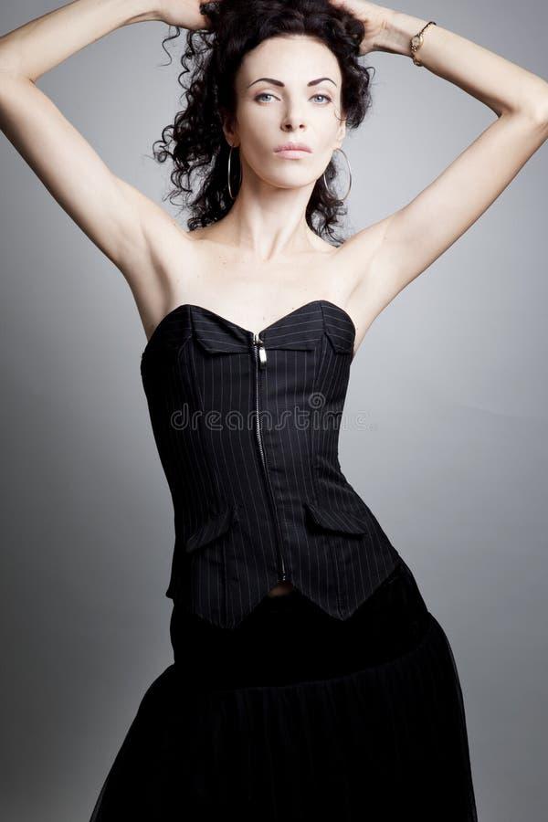 Mujer elegante en un corsé foto de archivo libre de regalías