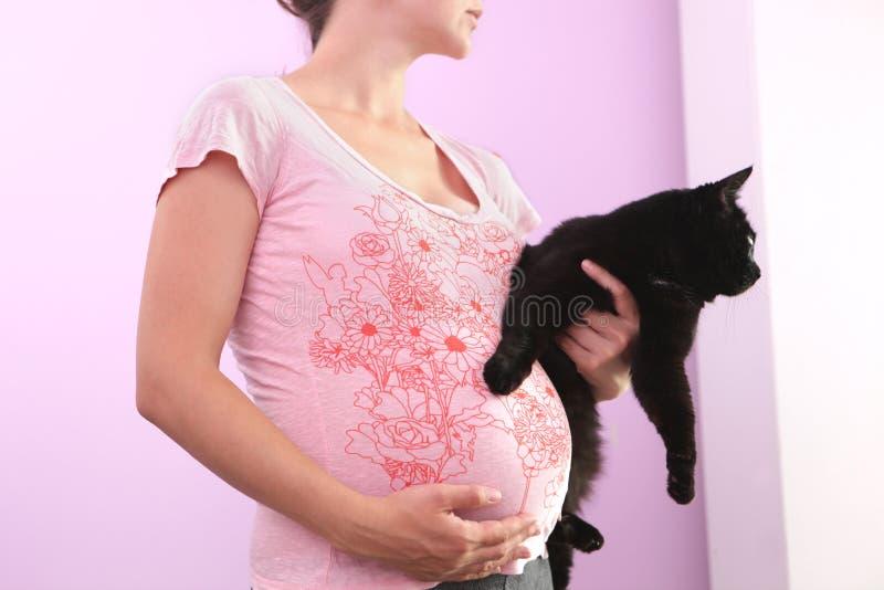 Mujer embarazada. imagenes de archivo