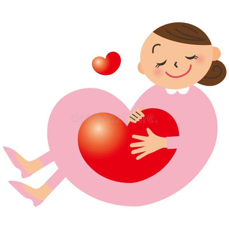 Mujer embarazada ilustración del vector