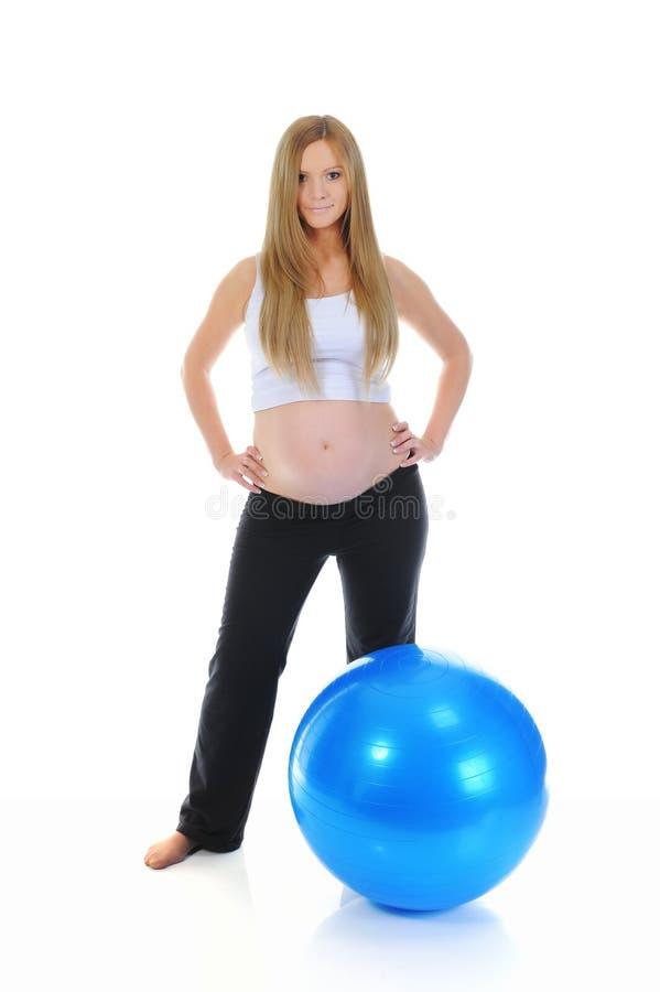 Mujer embarazada hermosa foto de archivo libre de regalías